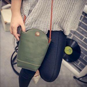 Crossbody bag (army Green w/ brown strap)